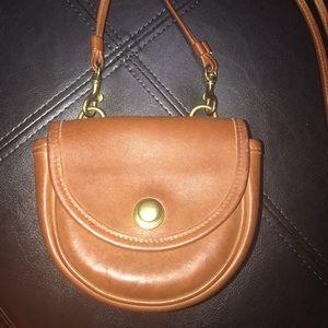Vintage Coach Leather Mini Belt / Crossbody Bag
